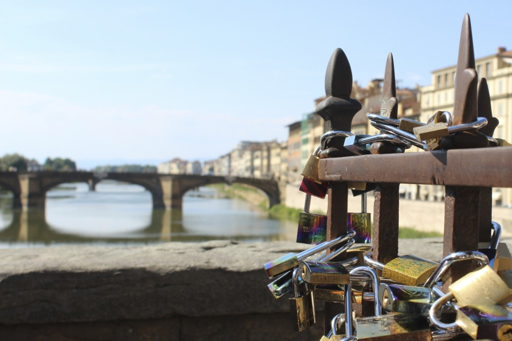 Love Locks on the Ponte Vecchio