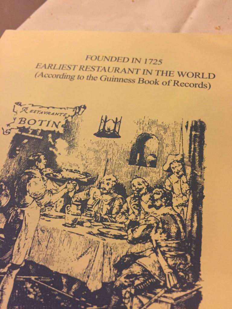 Casa Botin - the world's oldest restaurant  | Madrid