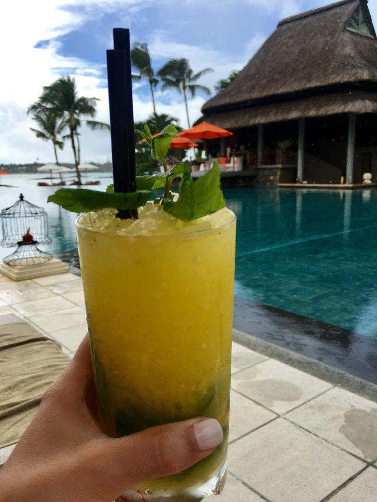 Drinks poolside at Constance Le Prince