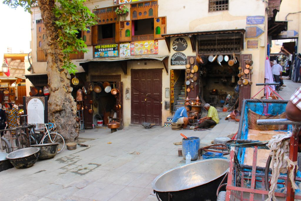 Shops within the medina