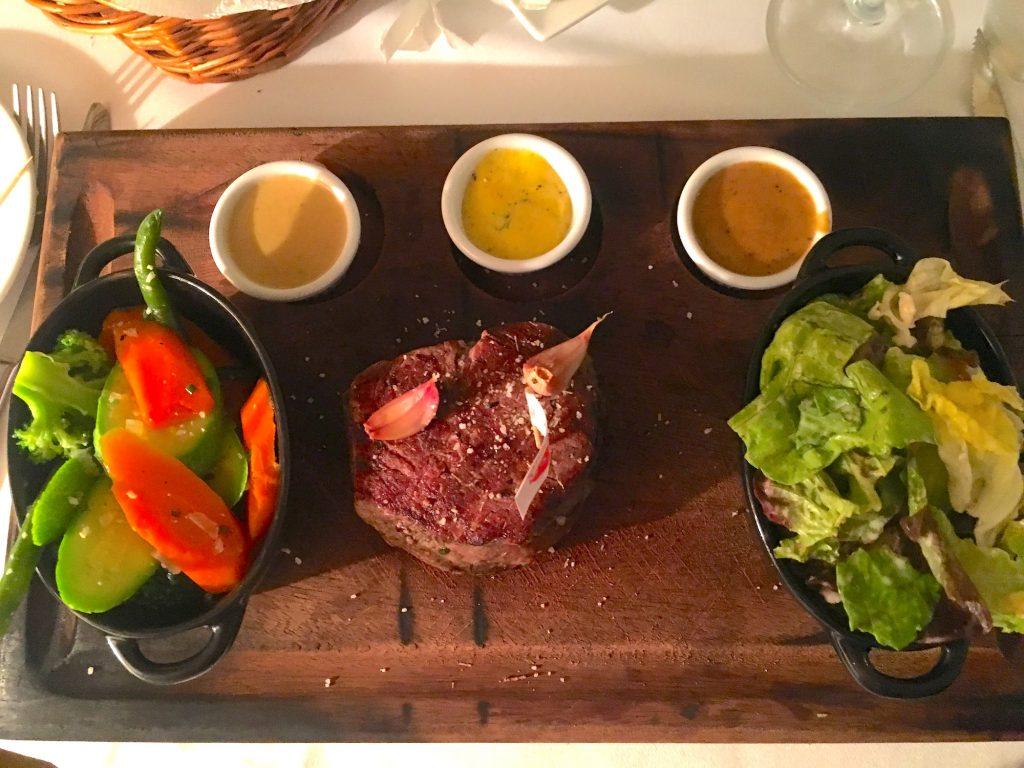 steak at Bavaroise