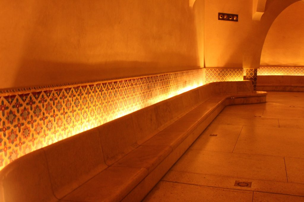 The Hammam inside Hassan II Mosque