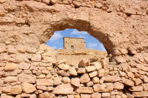 The top of the hill in Ait-Ben-Haddou