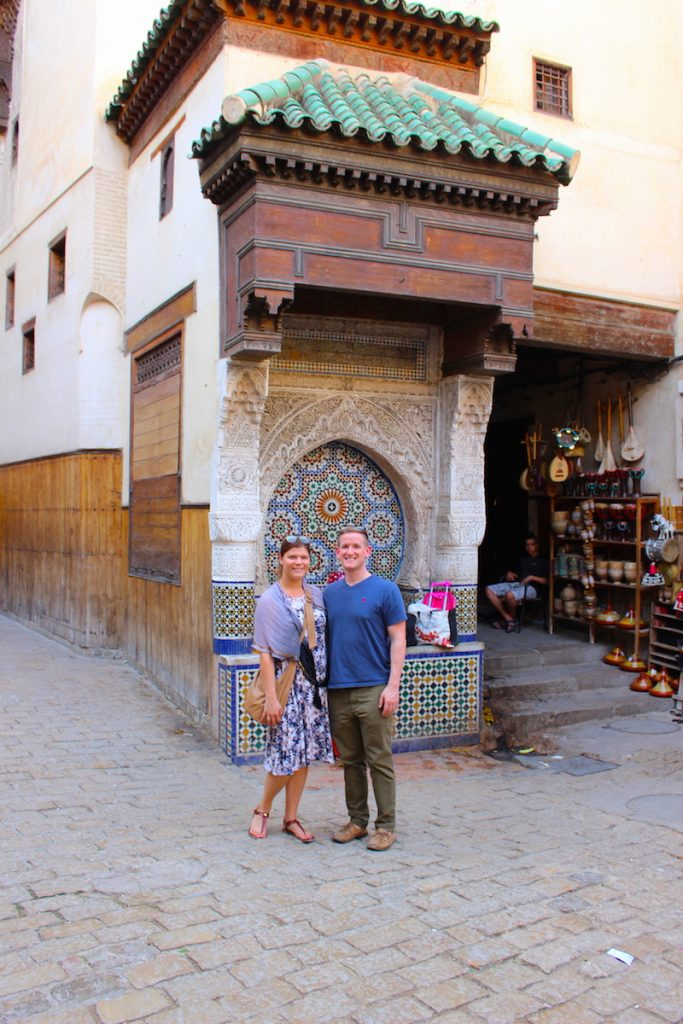 couple dressing for morocco
