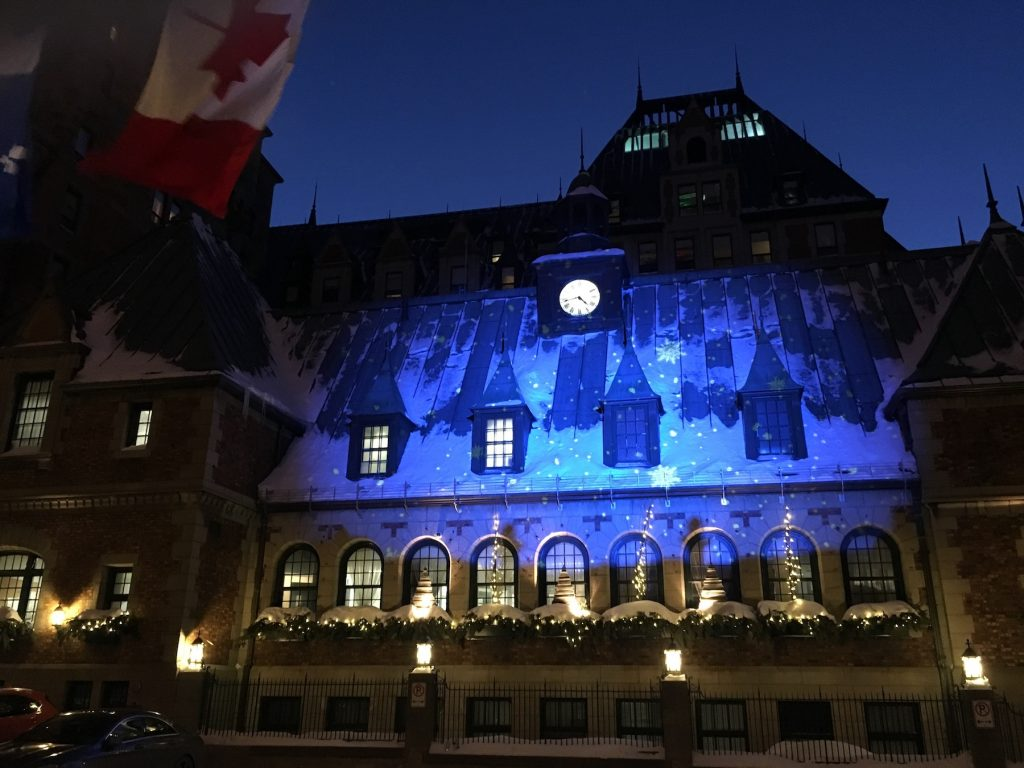 Château Frontenac at night