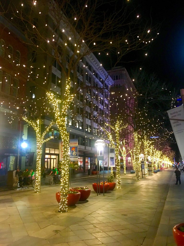 The 16th Street Mall at Night (Denver, CO)