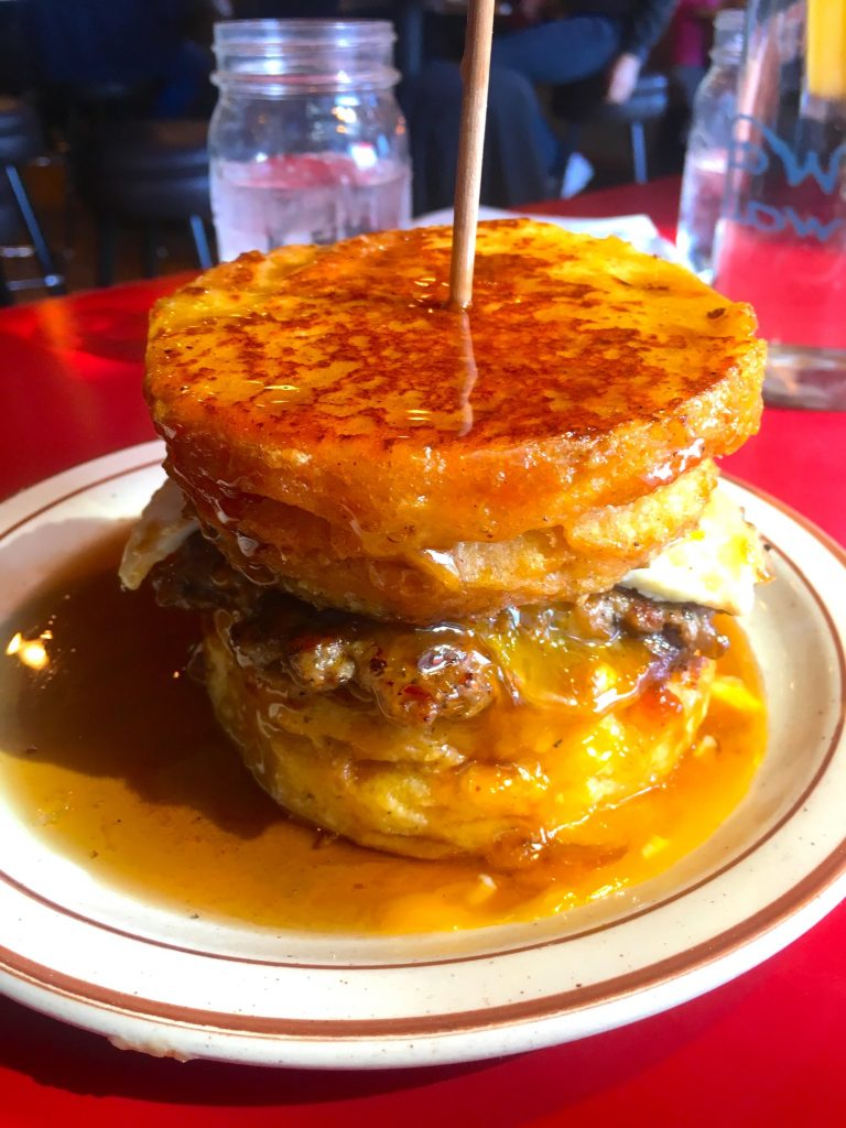 A French Toast Biscuit at Denver Biscuit Company